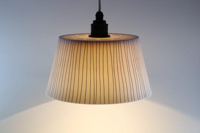 Porzellan Lampe Schwarz Weiß