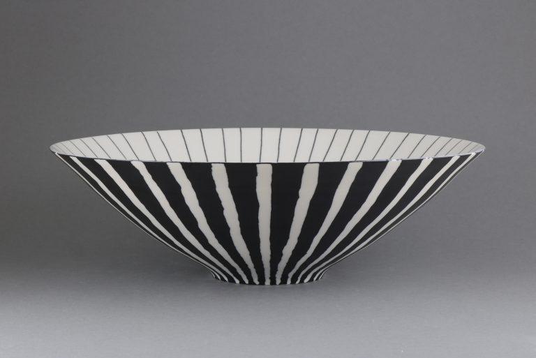 Porzellan Schale Schwarz Weiß